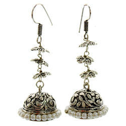 Silver Oxide Earring