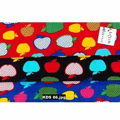 Apple Printed Hosiery Fabric