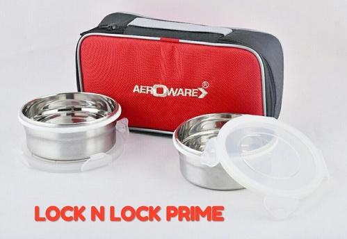 Aeroware SS Lunch Box, For School,Office, Capacity: 400 Ml Each