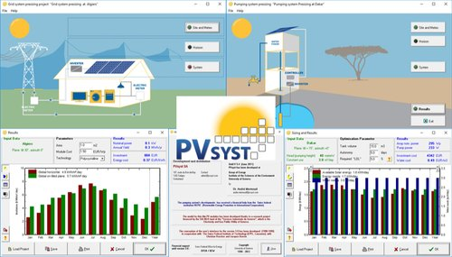 pvsyst is one of the most popular design software tools for solar