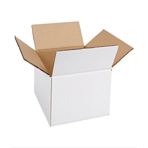 Kraft Paper Plain White Corrugated Carton Box for Packaging