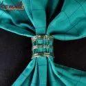 Custom Designs Handmade Silver Wired Brass Napkin Rings
