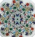 High Quality White  Marble Inlay Dining Table Top