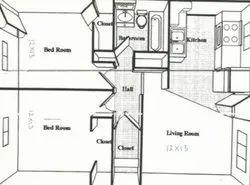 Aluminium Brown Interior Design Size