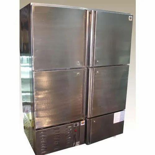 Four Door Stainless Steel Door Freezer