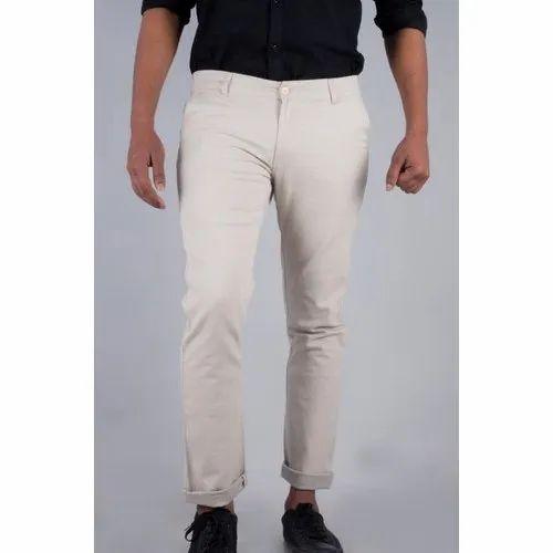 Cotton Mens White Formal Pant