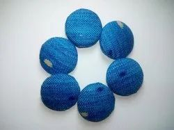 aluminium and brass Round fabric button, For Garments, Packaging Type: Packet