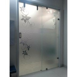 Hinged Interior Glass Door, Thickness: 10-12mm