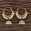 Kanhai Jewels Metal Alloy Indo Western Balis With Gold Plating 100706