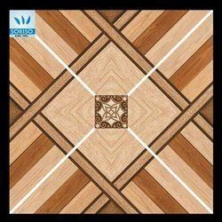 Brown Digital Printing Floor Tiles, Glossy, 600 mm x 600 mm