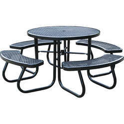 46 in. Picnic Table with Built-In Umbrella Support