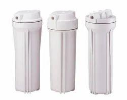 White Plastic RO Filter Housing