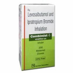 Combimist L Inhaler, Levosalbutamol / levalbuterol   ipratropium