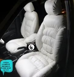 Pu Leather White Extra Comfort Memory Foam Seat Cover