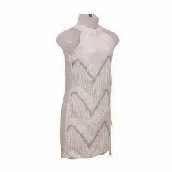 Velvet Girls Party Wear One Piece Dress, Size: 24-36