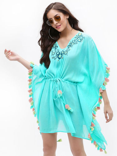c5ef0f3226 Rayon Embroidered Beachwear Kaftan 2018, Rs 700 /piece, Urvashi ...