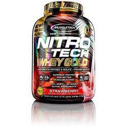 Nitrotech Whey Gold Strawberry Flavour Supplement