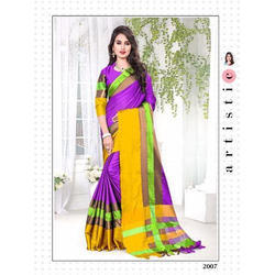 Silk Designer Saree with Blouse Piece, Length: 6 m