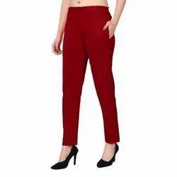 Skinny Fit Plain Pants For Women