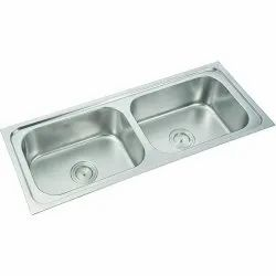 37x 18x 8 Stainless Steel Oval Double Bowl Kitchen Sink