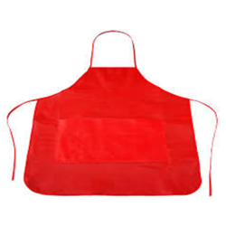 Red Non Woven Disposable Apron