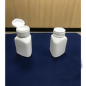 HDPE Triangular Capsule Bottle With Flip Top Cap