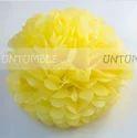 Yellow 18th Birthday Theme Paper Pom Poms
