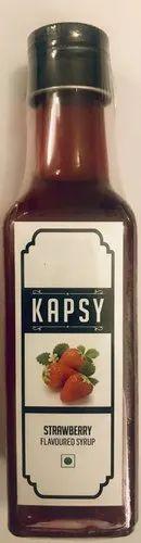 KAPSY Strawberry Milkshake Syrup for Restaurant, Packaging Type: Box
