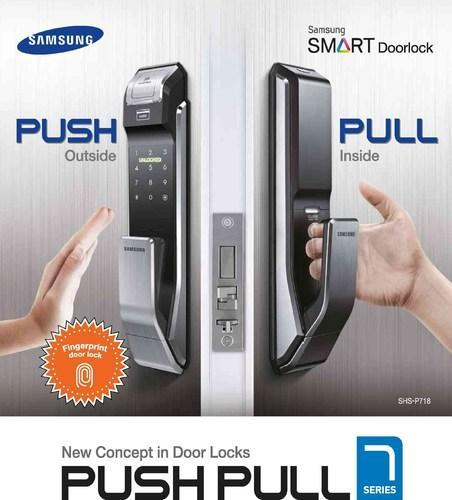 Samsung Digital Door Lock P-718 Push Pull  sc 1 st  IndiaMART & Samsung Digital Door Lock P-718 Push Pull Digital Door Locker ...