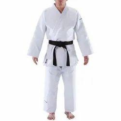 Satin White Full Sleeves Judo Uniforms, Size: S-xxl