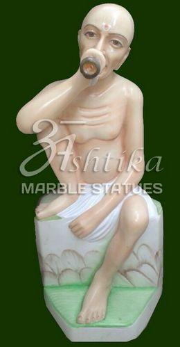 Marble Saint Gajanan Murti
