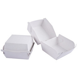 White Paper Burger Box