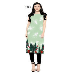 Ladies Half Sleeves Party Wear Kurti