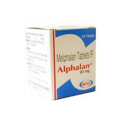 Melphalan Tablets, 25mg, Packaging Type: Stripes
