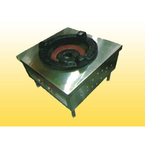 Stainless Steel LPG Commercial Single Burner Gas Range, 2