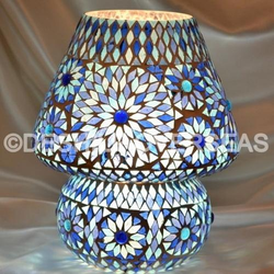 Blue Mosaic Table Lamp