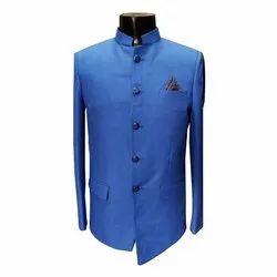 Party Plain Blue Designer Mens Jodhpuri Suit, Size: 32-40