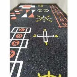 Pvc Geometry Design Carpet, For Floor Covering, Size: 50 Sq Per Feet