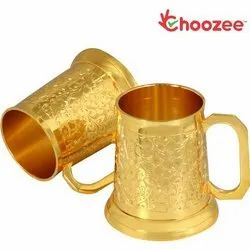 Gold Beer Mug Set