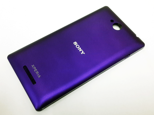watch 55e19 d9e12 Sony Xperia C Purple Back Battery Panel Housing Cover Shell