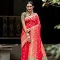Pure Banglori Raw Silk Weaving Saree