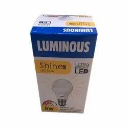 Ceramic Round Luminous 9W LED Bulb