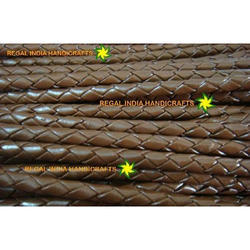 Copper Brown Braided Leather Cords