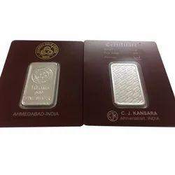 10 Gram Rectangular Pure Silver Coin