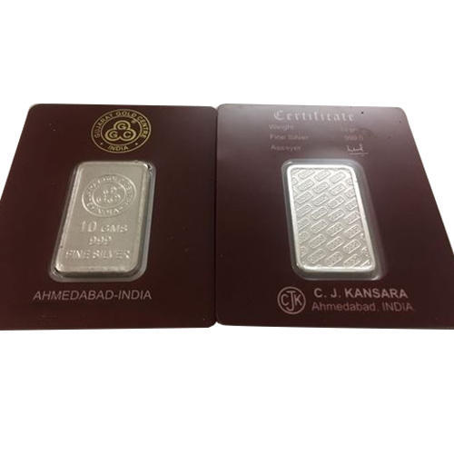 G G C 10 Gram Rectangular Pure Silver Coin Rs 475 Piece Id 14563664548