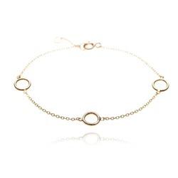 Four Round Charm Blessing Attractive Simple Daily Wear Womens Gold Plated Bracelet
