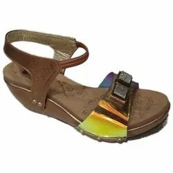 Party Wear Ladies Canvas Sandal, Size: 4 to 10