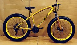 21 Gear Cycle Gold Colour Fat Bike