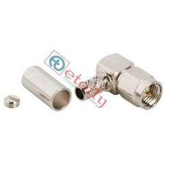 SMA Male E R/A For RG316 Nickel Plated