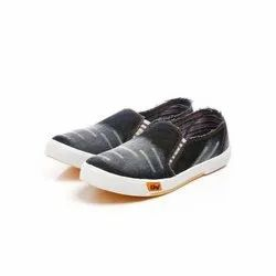 Mens Black Denim Canvas Shoes